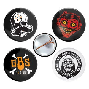 Image of Fisticuffs/Grave Before Shave button pack
