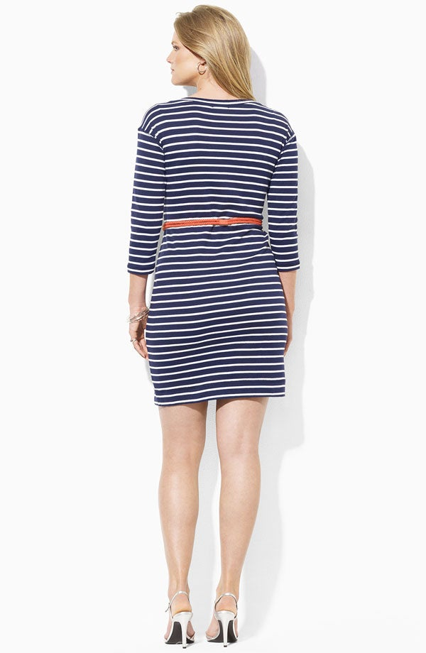 Image of Ralph Lauren Stripe Knit Sheath Dress