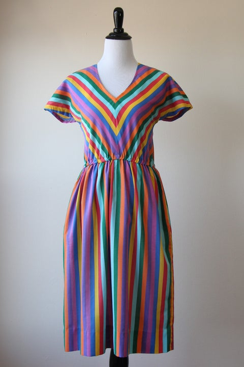 Image of SOLD Chevron Rainbows Dress