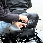 Image of New! The Bone® DOUBLE IMPACT PASS/RDR Backrest Pocket (Black Icon) » '09-current models BC#106010