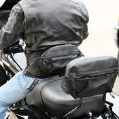 Image of New! The Bone® DOUBLE IMPACT RIDER Backrest Pocket (Black Icon) » '09-current models BC#106009