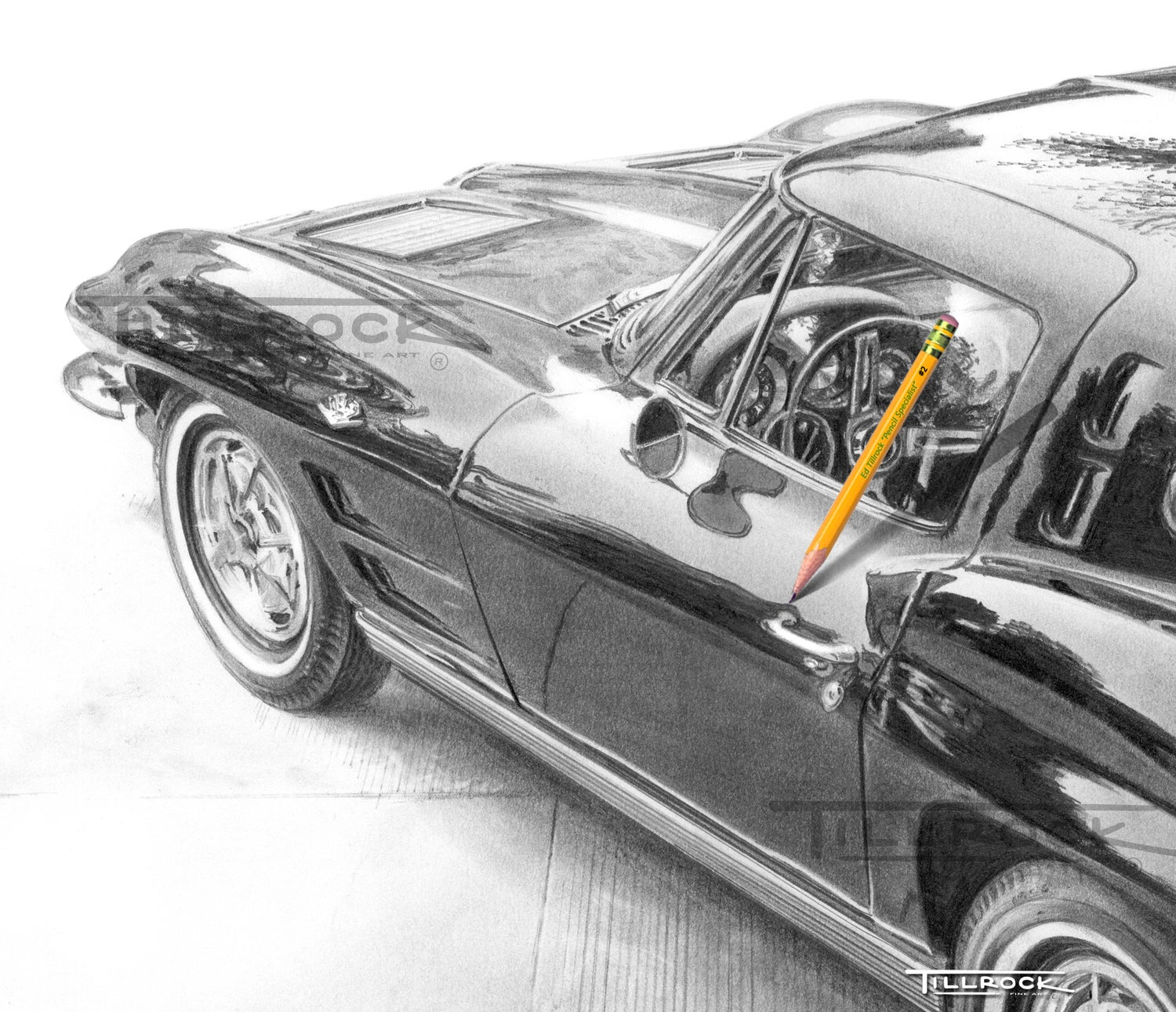 """Image of """"1963 Corvette Sting Ray"""" Signed & Numbered 20x24 Giclee' Print"""