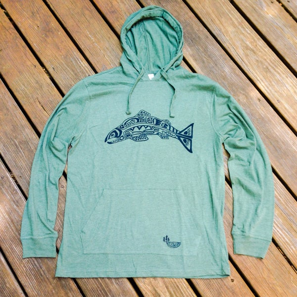 Image of Salmon Spirit- Unisex organic cotton hoodie
