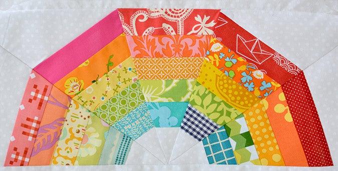 Image of mini Giant Rainbow Quilt