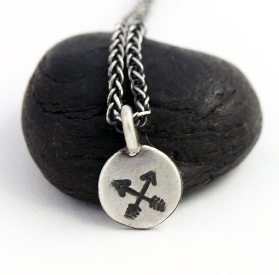 Image of Crossed Arrows Charm Necklace