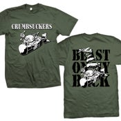 "Image of CRUMBSUCKERS ""Beast On My Back"" Army Green T-Shirt"
