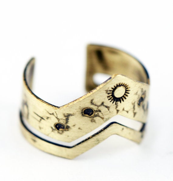 Image of Chevron Solstice Ring