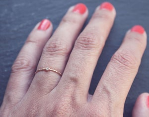 Image of Crystal rose gold ring