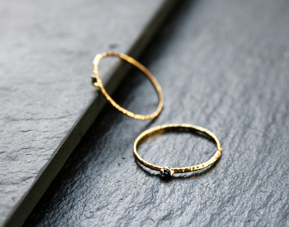 Image of Blue zirconia ring