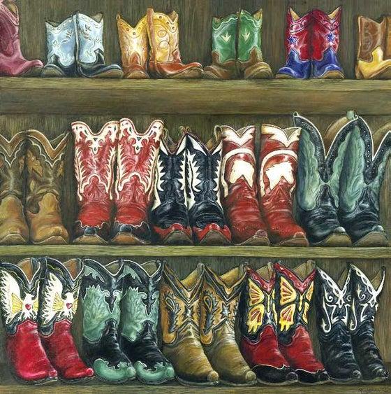 "Image of ""Fancy Footwear"" Canvas Gicleé"