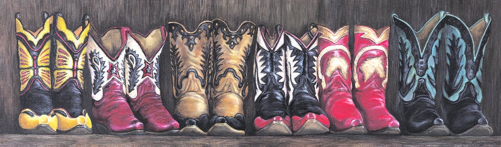 "Image of ""Bronco's Boots"" Canvas Gicleé"