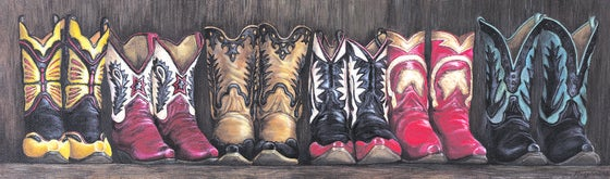 """Image of """"Bronco's Boots"""" Canvas Gicleé"""