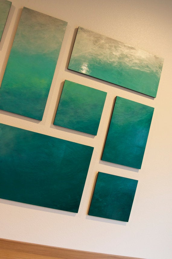 ombre wall art