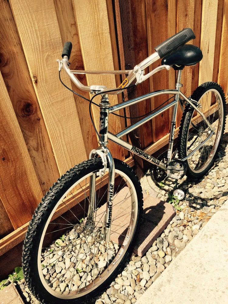 """Image of Old School Chrome MCS Magna Cruise 26"""" BMX Race Bike,Tuf-Neck Bars,Araya"""