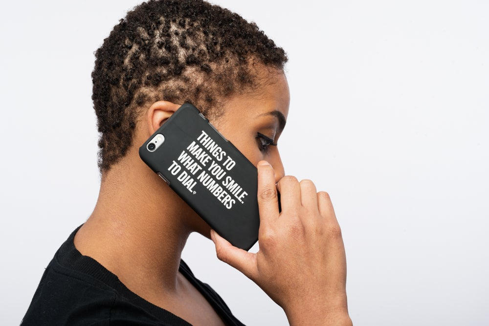 Image of MAD QUESTION ASKING - iPhone 5, 5S, & 6 Case (BLACK)