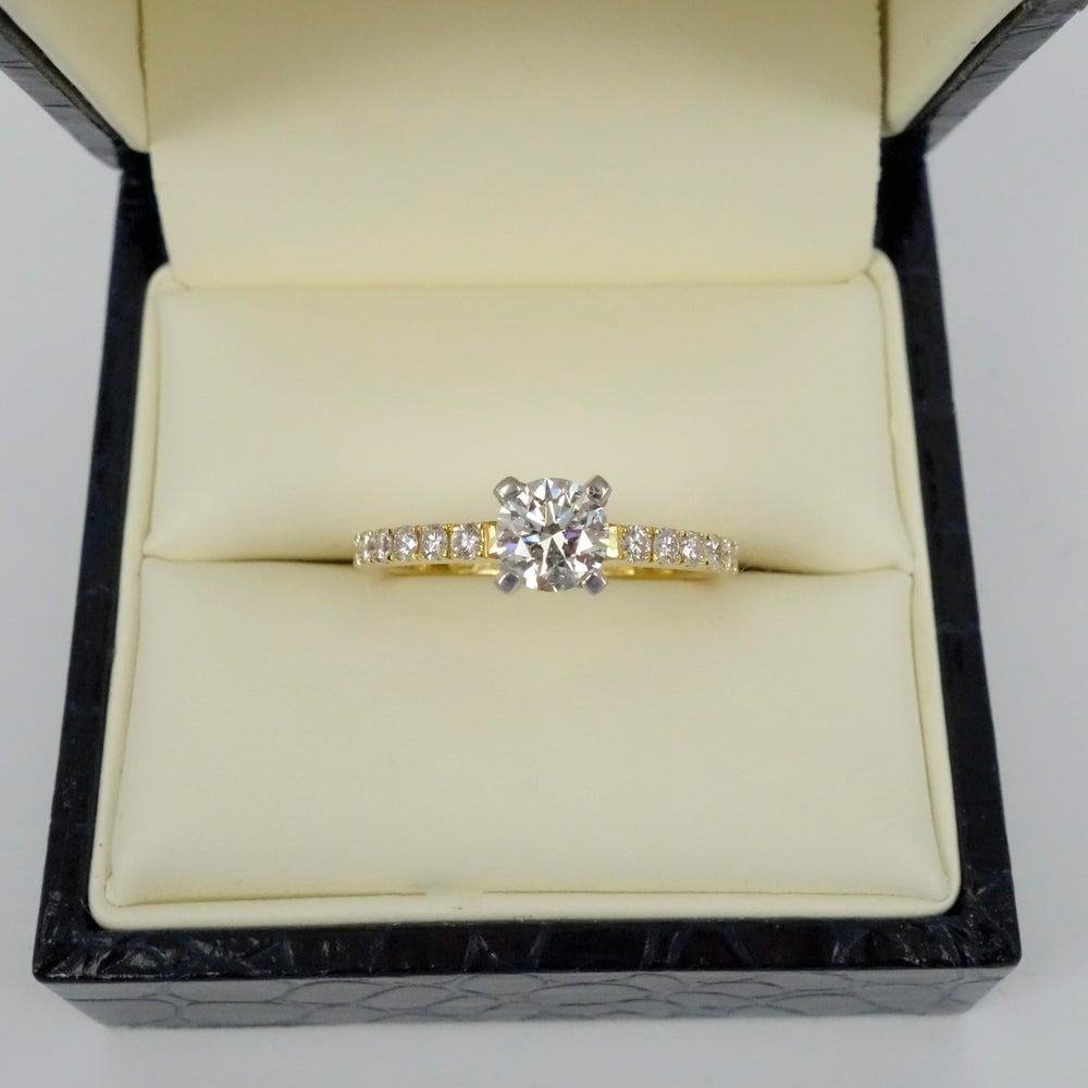 Image of PJ4501 yellow gold diamond engagement ring
