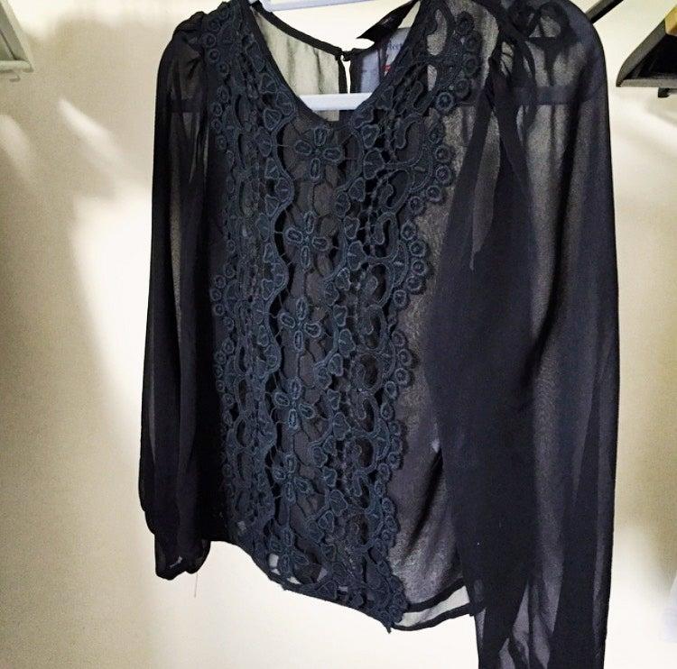 Image of Black Lace Blouse