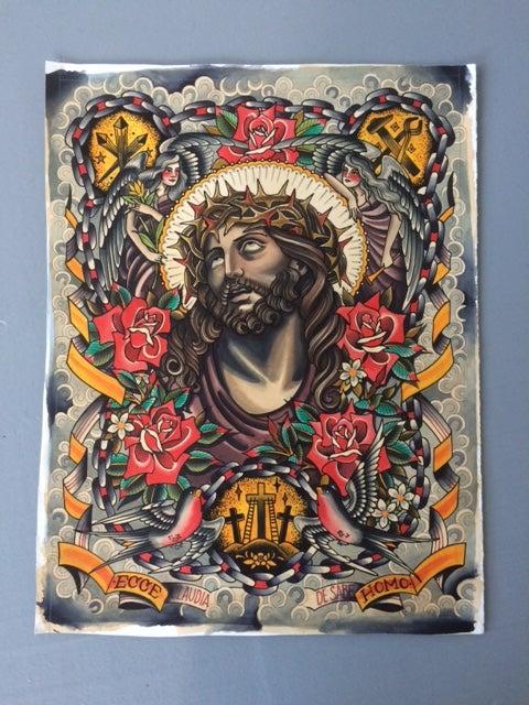 Image of Jeeesus.Oh.Jeeesus! Original Painting