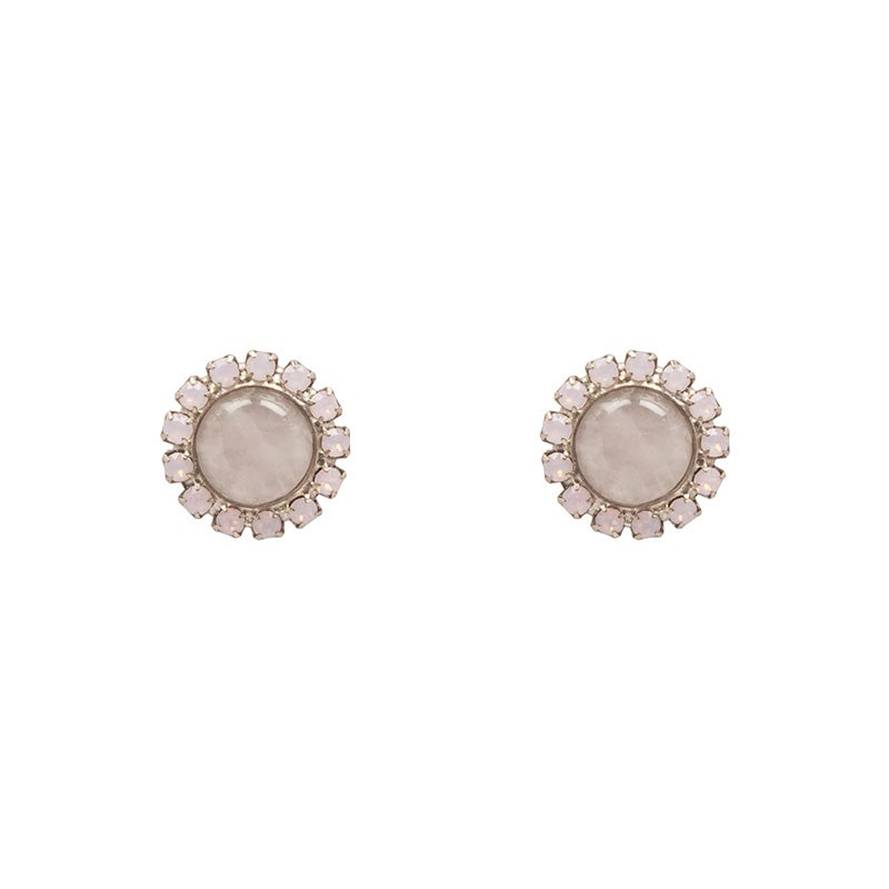 Image of Rose Quartz Satellite Stud Earrings