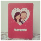 Image of Personalised Couple Keepsake Card