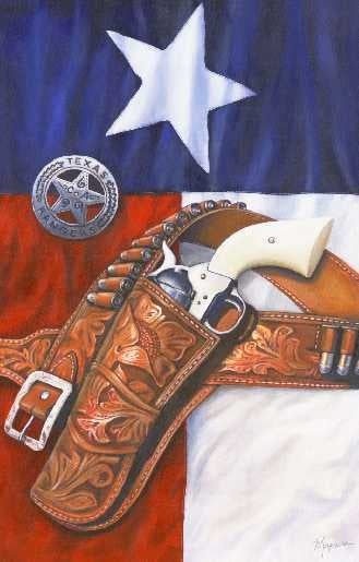 "Image of ""Texas Ranger"" Canvas Gicleé"