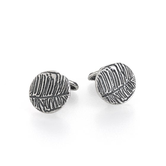 Image of sterling silver feather cufflinks by peacesofindigo