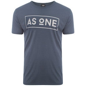 Image of Boxed Logo T-Shirt - Denim Blue
