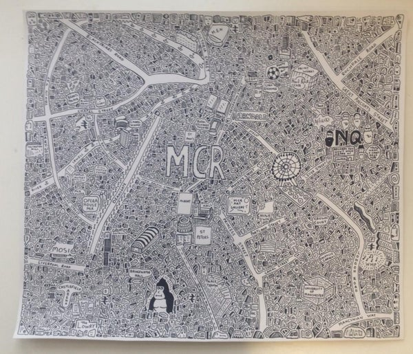 Image of Manchester Doodle Map
