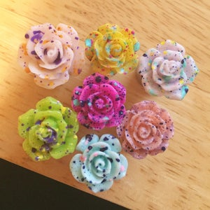 Image of Splatter Rose Plugs (sizes 0g-1 3/4)