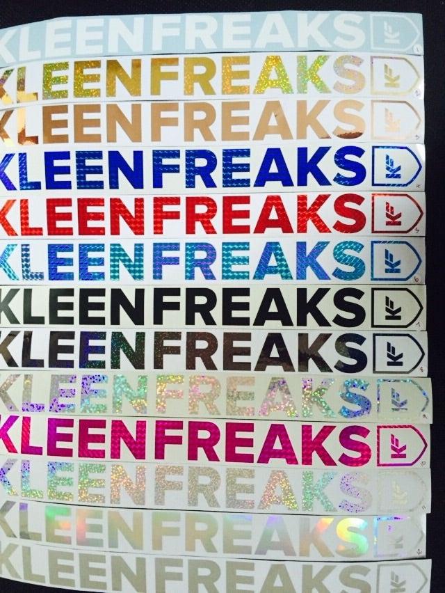 Image of Kleen Freaks Large Window Sticker