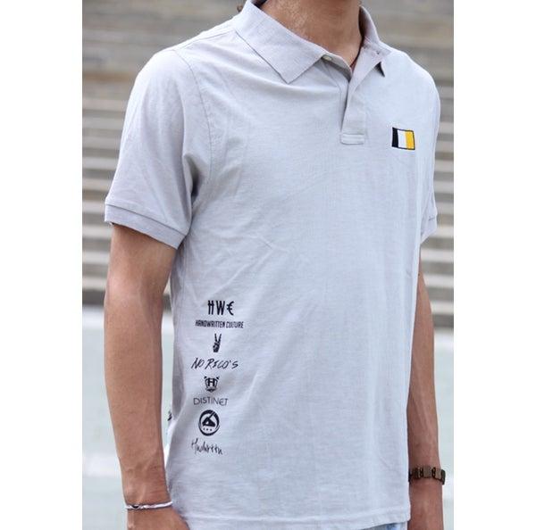 Image of Grey Handwritten Culture & Company Polo