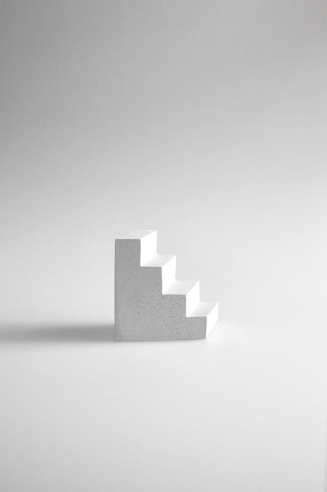 Image of Concrete Staircase Paperweight (White)