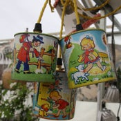 Image of 1950s nursery tin light cluster