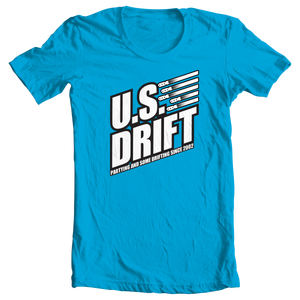 Image of 2014 USDrift Bomb Logo T-Shirt BLUE STEEL