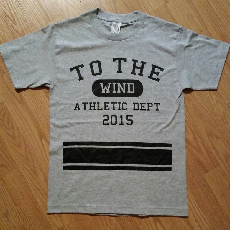 "Image of GREY ""ATHLETIC DEPARTMENT"" TEE."