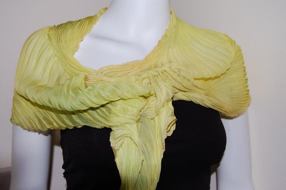 Image of Ceylon Silk Shibori Scarf - Handpainted Silk Shibori