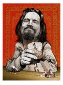 Image of Drinking Buddies The Dude Mini Print