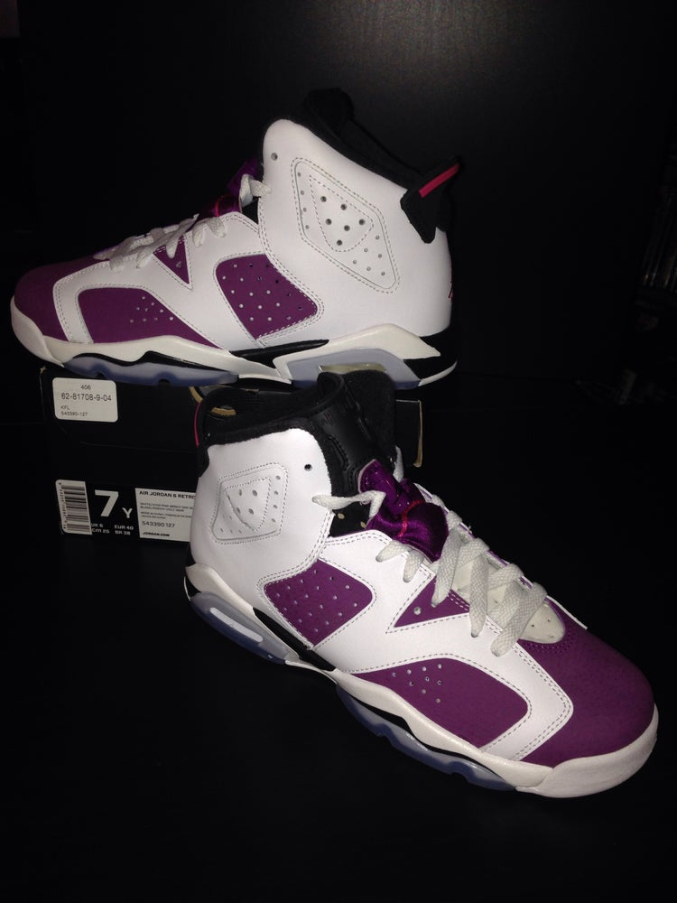 "Image of Girls Air Jordan 6 Retro GS ""Grape"""
