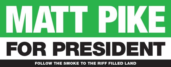 Image of MATT PIKE FOR PRESIDENT Bumper Sticker