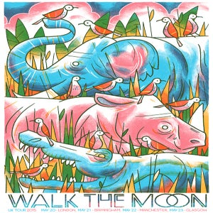 Image of Walk The Moon UK Tour Poster 2015