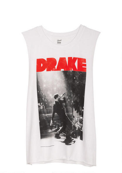 Image of drake muscle tee shirt
