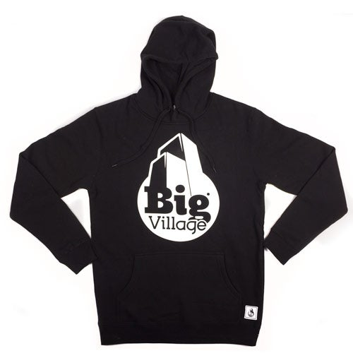Image of Big Village Logo Hood - Black