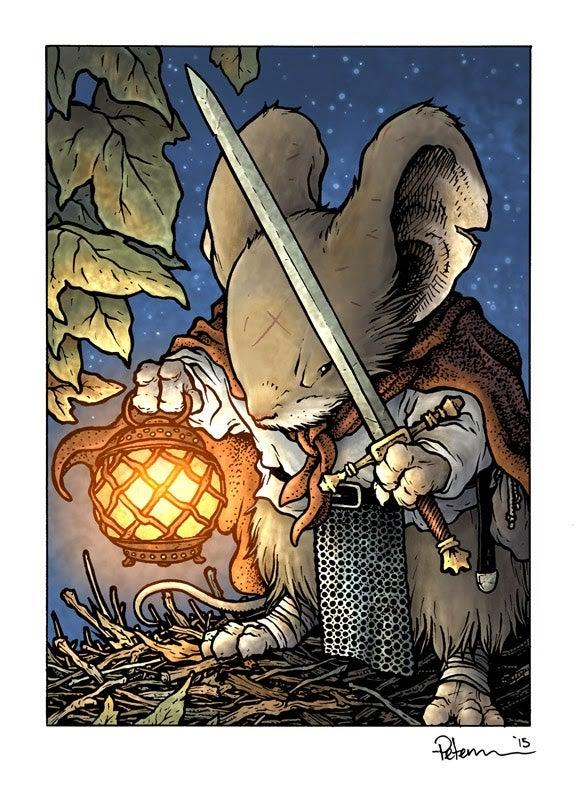 Image of Saxon Lantern Print Matted 8x10