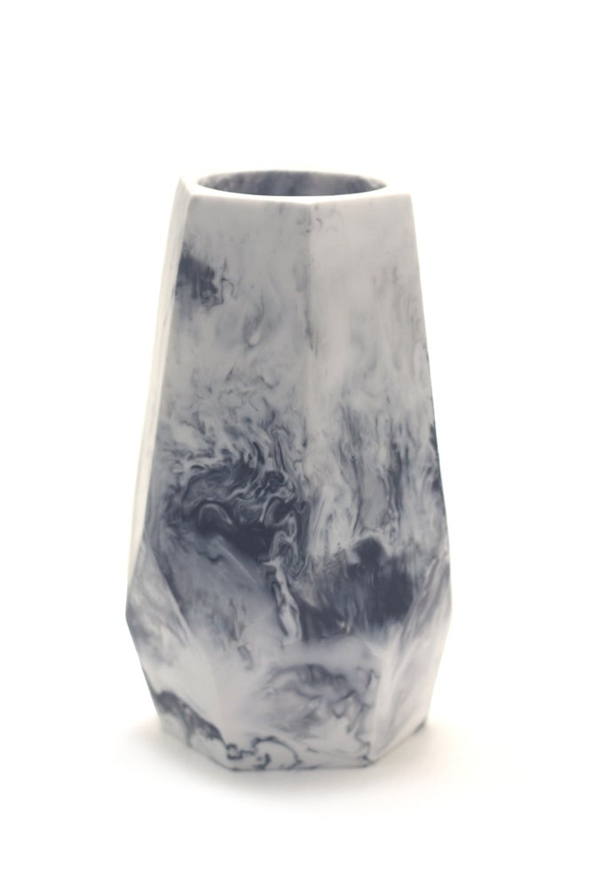 Image of Hexagonal Marbled Vase