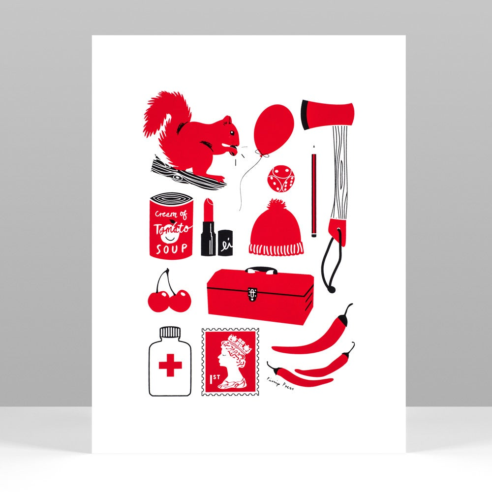 Image of Primary Red silkscreen print
