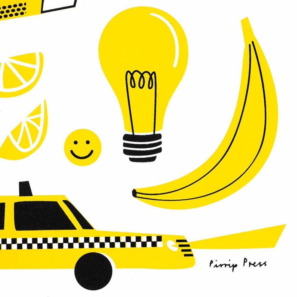 Image of Primary Yellow silkscreen print