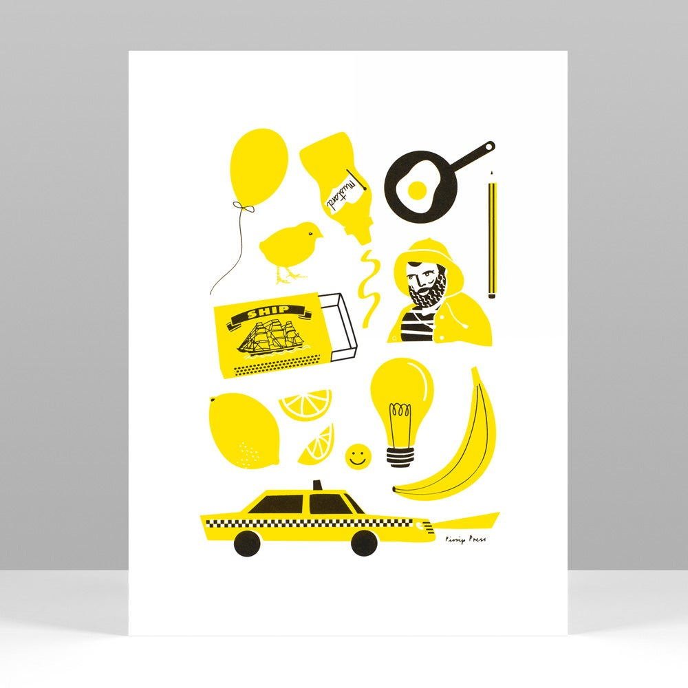 Image of Primary Yellow silkscreen print