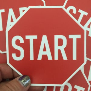 Image of Start Sign Sticker