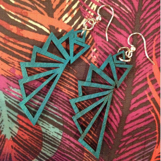 Image of Geometric Earrings by Greentree