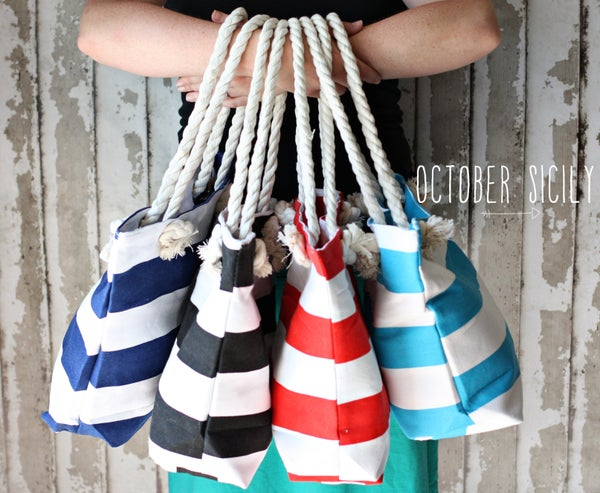 Image of Big Nautical Bag, Beach, Purse